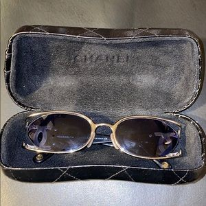 Vintage Chanel blue frame glasses